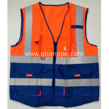 Biocolor high visibility reporter vest reflective tape